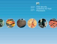FSIS Security Guidelines for Food Processors - Food Safety and ...