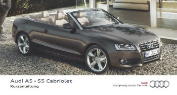 Audi A5 • S5 Cabriolet