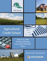 Agricultural Credit School - Conference Planning and Management ...