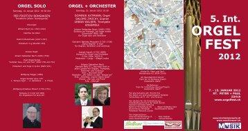 ORGEL FEST - Musik in Zürich