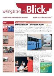 Ausgabe 19/2011 - Weingarten im Blick