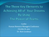 The Five Key Elements to Building the Practice of Your ... - Carilec
