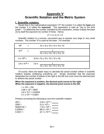 Unit 12 Metric And Scientific Notation Worksheets