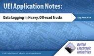 Data Logging in Heavy, Ofi-road Trucks - United Electronic Industries