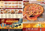Download leaflet - Pizza Hut Malaysia