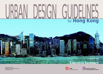 Urban Design Guidelines For Hong Kong