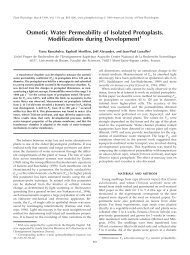 Osmotic Water Permeability of Isolated ... - Plant Physiology
