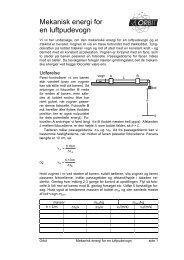 Mekanisk energi for en luftpudevogn