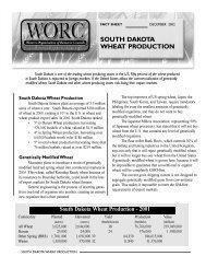 South Dakota Wheat Production - Western Organization of Resource ...
