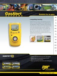 Detektor for én gass - BW Technologies Ltd.