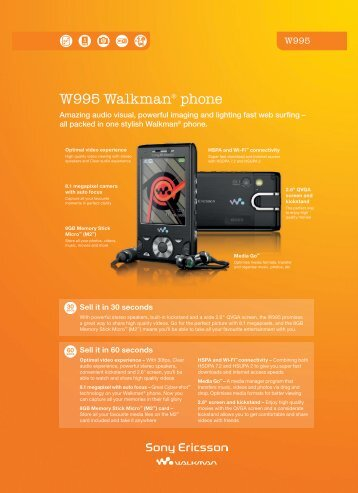 W995 Walkman® phone