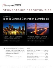 B-to-B Demand Generation Summits '08 - MarketingSherpa