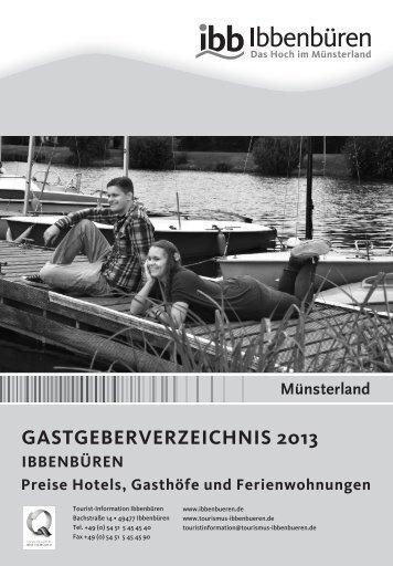 GastGeberverzeichnis - Stadtmarketing und Tourismus in Ibbenbüren