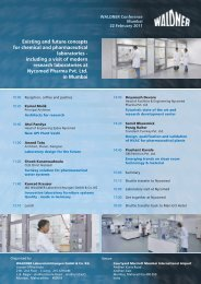 booking form for the 1st Conference of Waldner Laboratory Systems