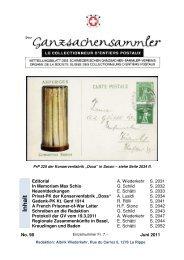 98 - Schweizerischer Ganzsachen-Sammler-Verein