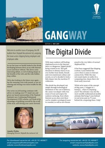 The Digital Divide - ShiptalkJOBS