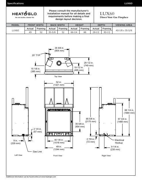 Direct Vent Gas Fireplace Hearth Home Technologies