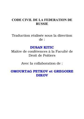 CODE CIVIL - Juriscope
