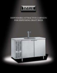 Beer Dispensers – Self Contained brochure - Lenox-Martell Inc