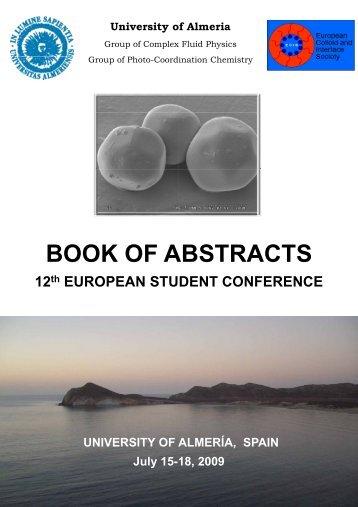 BOOK OF A ABSTRACTS - Universidad de Almería