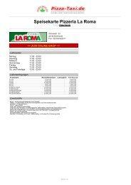 Pizzeria La Roma in 44145 Dortmund, Zimmerstr. 33 - Pizza Taxi