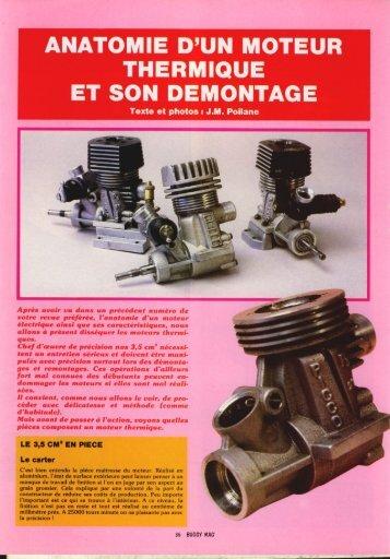 anatomie d'un moteur thermique et son demontage - Retro modélisme