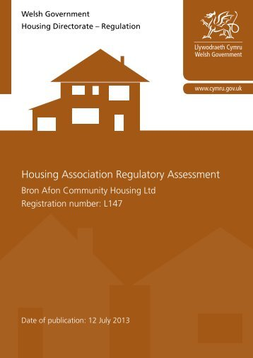 Housing Association Regulatory Assessment - Bron Afon