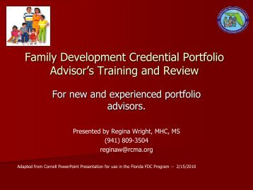 FDC Portfolio Advisor's Training and Review - Redlands Christian ...