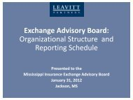 Exchange Advisory Board: Organizational Structure and Reporting ...