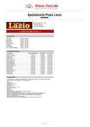 Pizza Lazio in 30455 Hannover, Badenstedter Str. 178 - Pizza Taxi