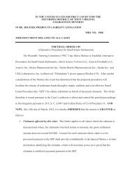 Pretrial Order #89 - March 12, 2012 - Southern District of West Virginia