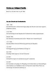 Einen Bericht zur 25-Jahr Feier der Familienkirche im Jahr 1983