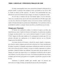 TEMA 3. MONTAJE Y PROCESOS FINALES DE CINE Rodaje para ...