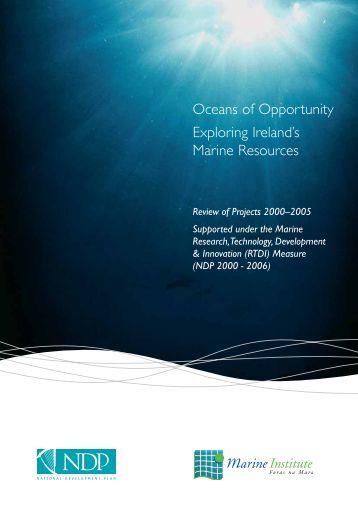 Oceans of Opportunity Exploring Ireland's Marine ... - Marine Institute