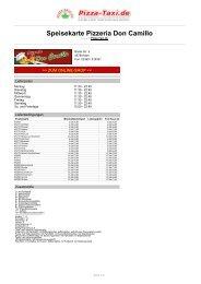 Pizzeria Don Camillo in 45768 Marl, Breite Str. 9 - Pizza Taxi