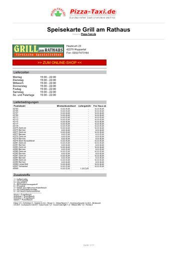 Grill am Rathaus in 42275 Wuppertal, Heubruch 23 - Pizza Taxi