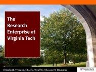 The Research Enterprise at Virginia Tech