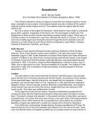 Gnosticism - Geisler.. - Online Christian Library