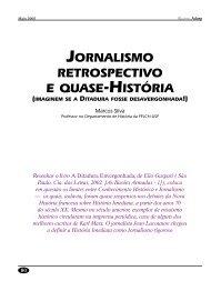 Jornalismo retrospectivo e quase-História (imaginem se a ... - Adusp