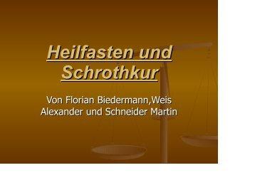 Heilfasten und Schrothkur übrarb - Realschule-Beilngries.de