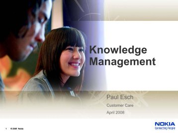 Knowledge Management - Service Strategies