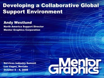 Mentor Graphics Corporation - Service Strategies