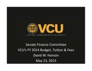 Presentation - Virginia Senate Finance Committee