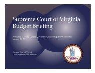 Supreme Court of Va Budget Briefing - Virginia Senate Finance ...