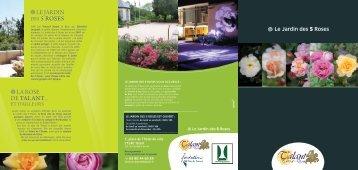 Dépliant Jardin des cinq roses - Sortir à Talant - Ville de Talant