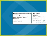 Maximizing Your Service Fees and Pricing ... - Service Strategies