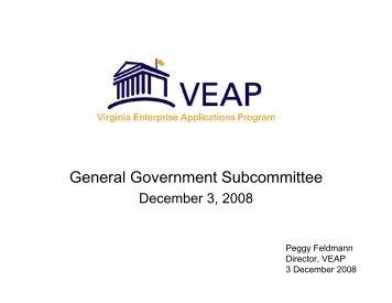 Update on the Virginia Enterprise Applications Program