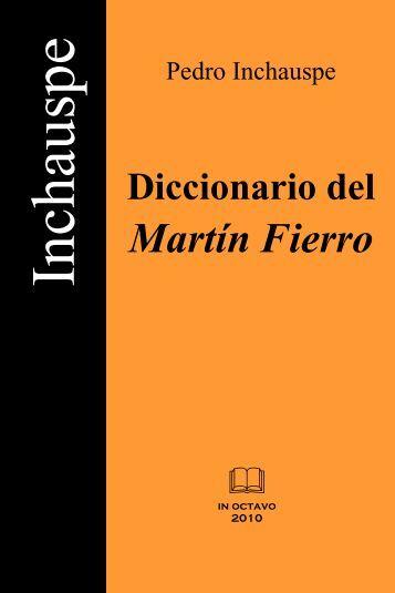 Diccionario del Martín Fierro - Folklore Tradiciones