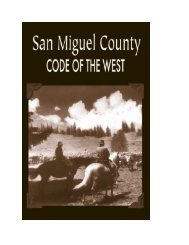 table of contents - San Miguel County
