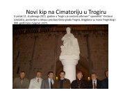 Novi kip na Cimatoriju u Trogiru